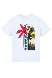 Stella McCartney Kids White Graphic T.Shirt - Front cropped