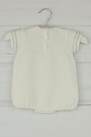 Granlei 1980 White & Gray Onesie - Front full body