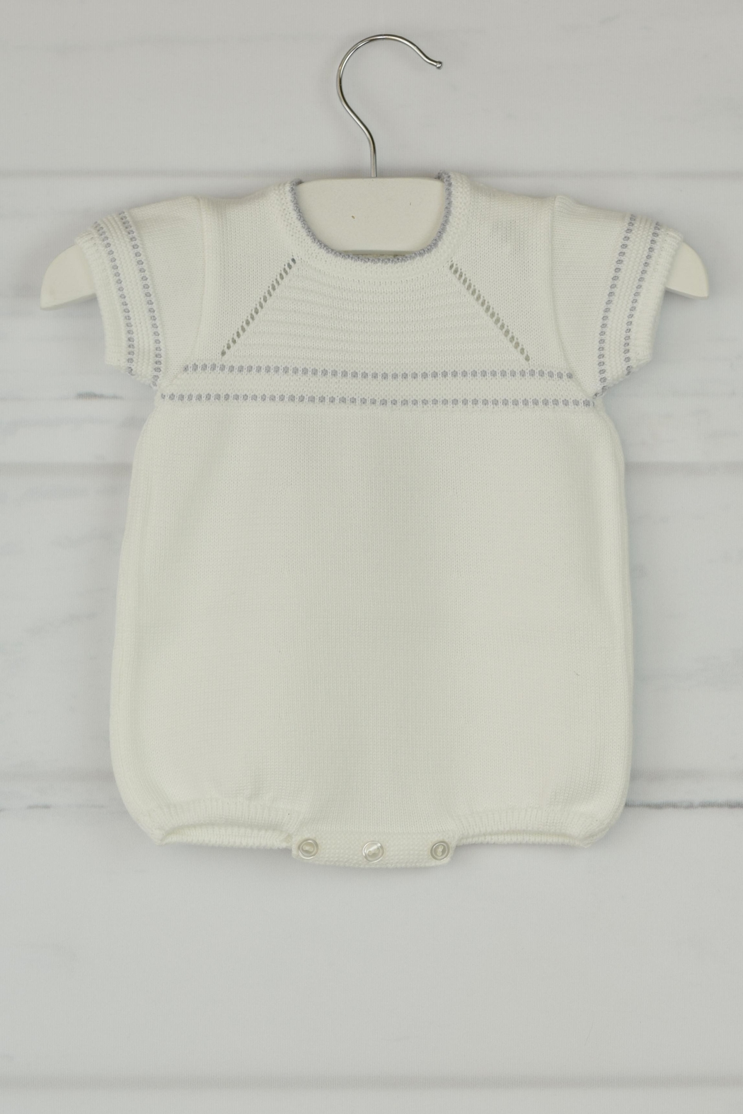 Granlei 1980 White & Gray Onesie - Front Cropped Image