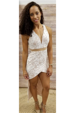 L'atiste White Halter Hi-Low Maxi - Product List Image