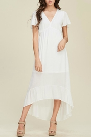Staccato White Hi-Low Dress - Product Mini Image
