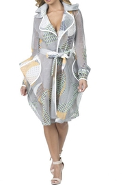 cq by cq White Honeycomb Jacket - Product Mini Image