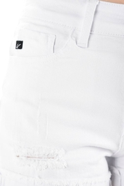 Imagine That White Jean Shorts - Back cropped