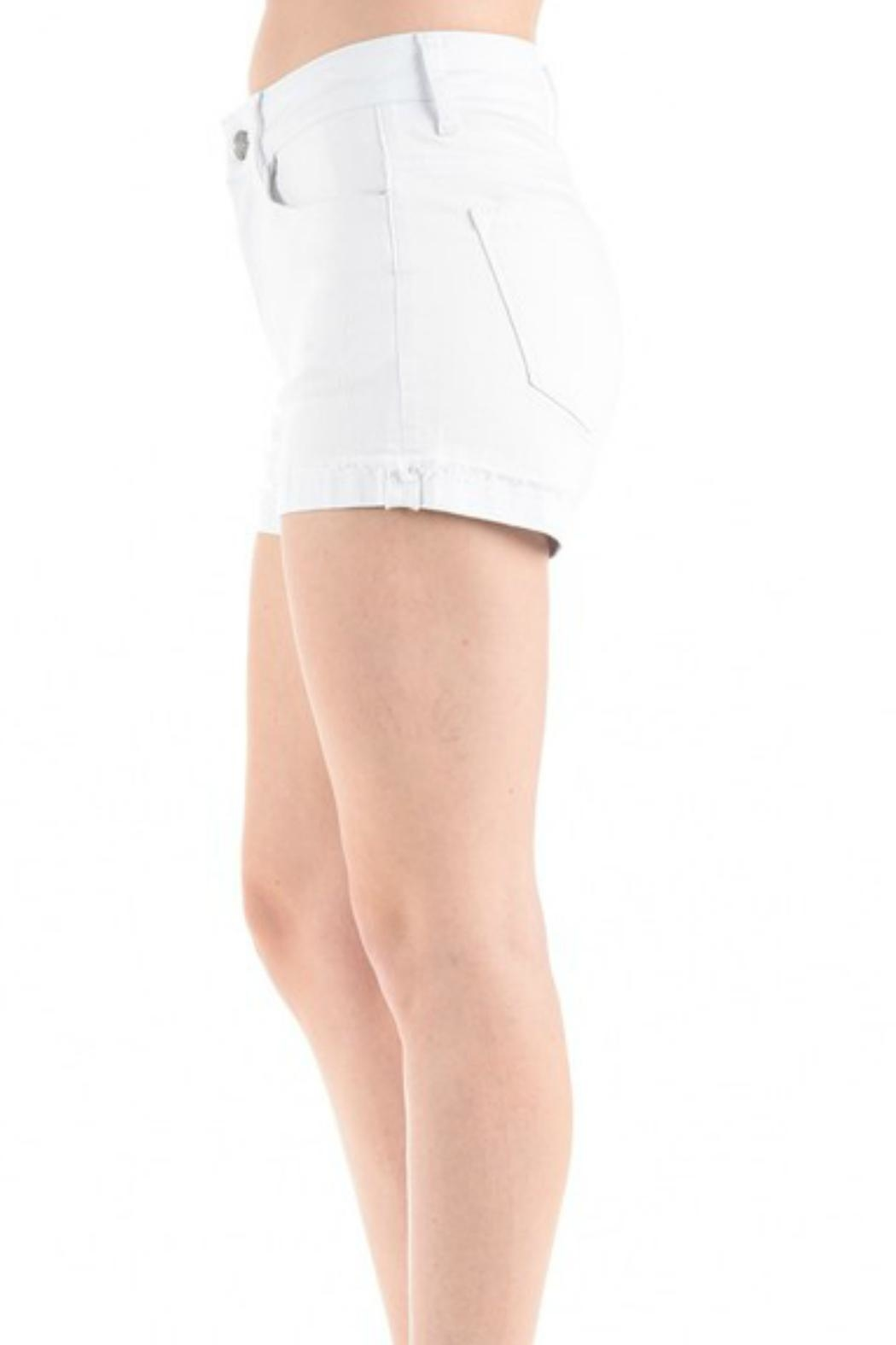 Imagine That White Jean Shorts - Side Cropped Image