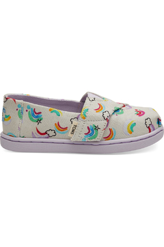TOMS White Jumping Rainbows Tiny Classics - Product List Image