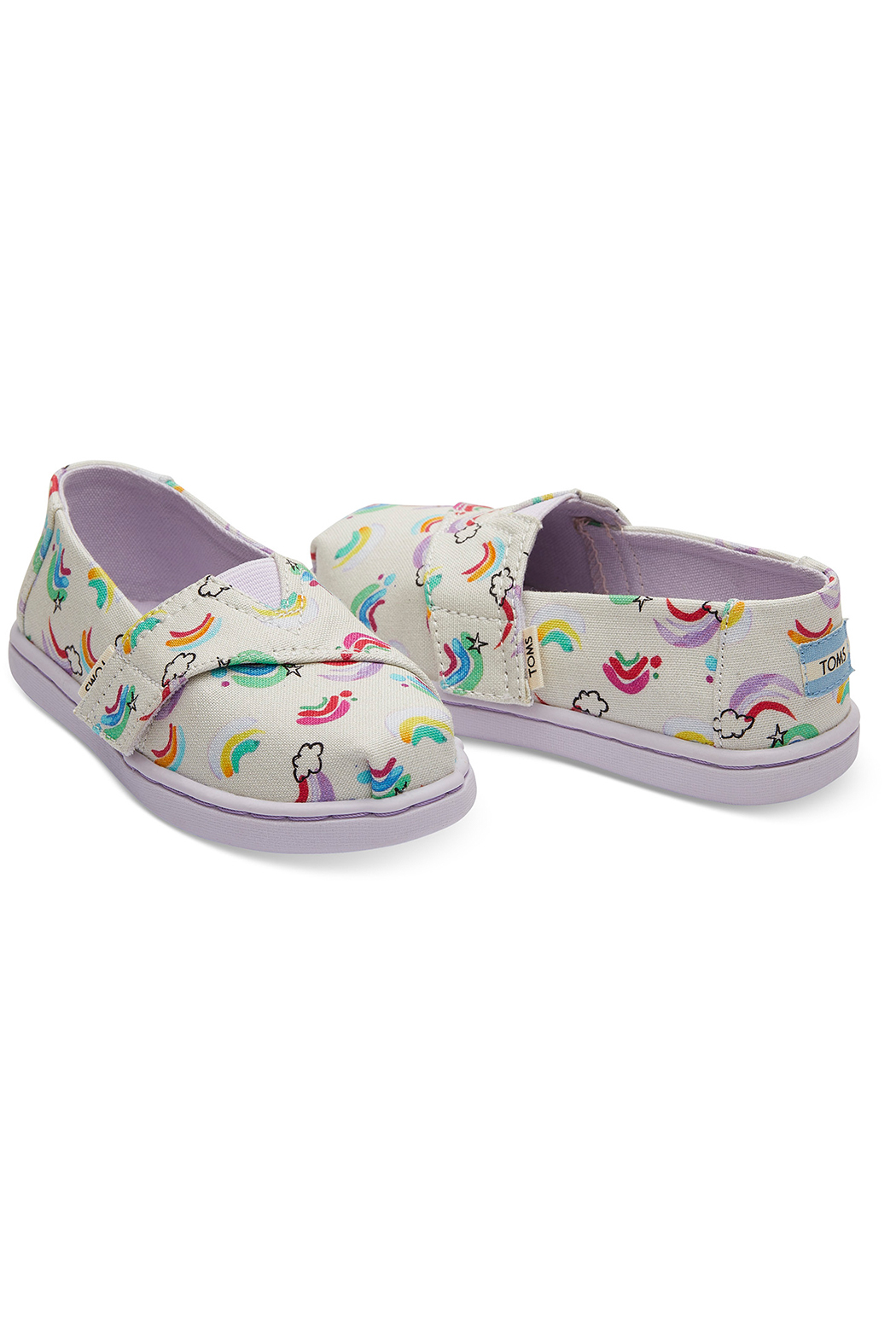 TOMS White Jumping Rainbows Tiny Classics - Front Full Image