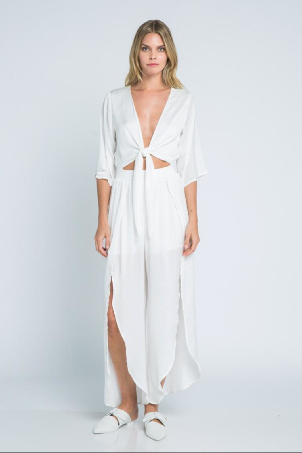 b924fab0185c skylar madison White Jumpsuit from Los Angeles by Chikas — Shoptiques