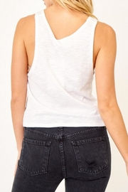 Olivaceous White Keyhole Tank - Front full body