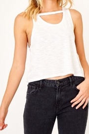 Olivaceous White Keyhole Tank - Front cropped