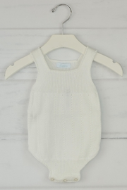 Granlei 1980 White Knitted Onesie - Front cropped