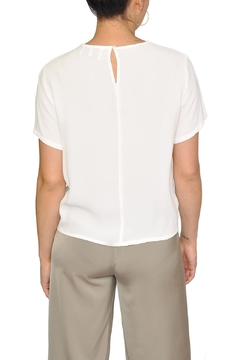 Just Female White Knotted Blouse - Alternate List Image