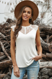 The Emerald Fox Boutique Lace Cape - Round Neck - Flowy Tank Top - Product Mini Image