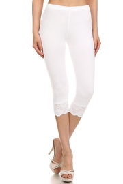 Bozzolo White Lace Capri - Product Mini Image
