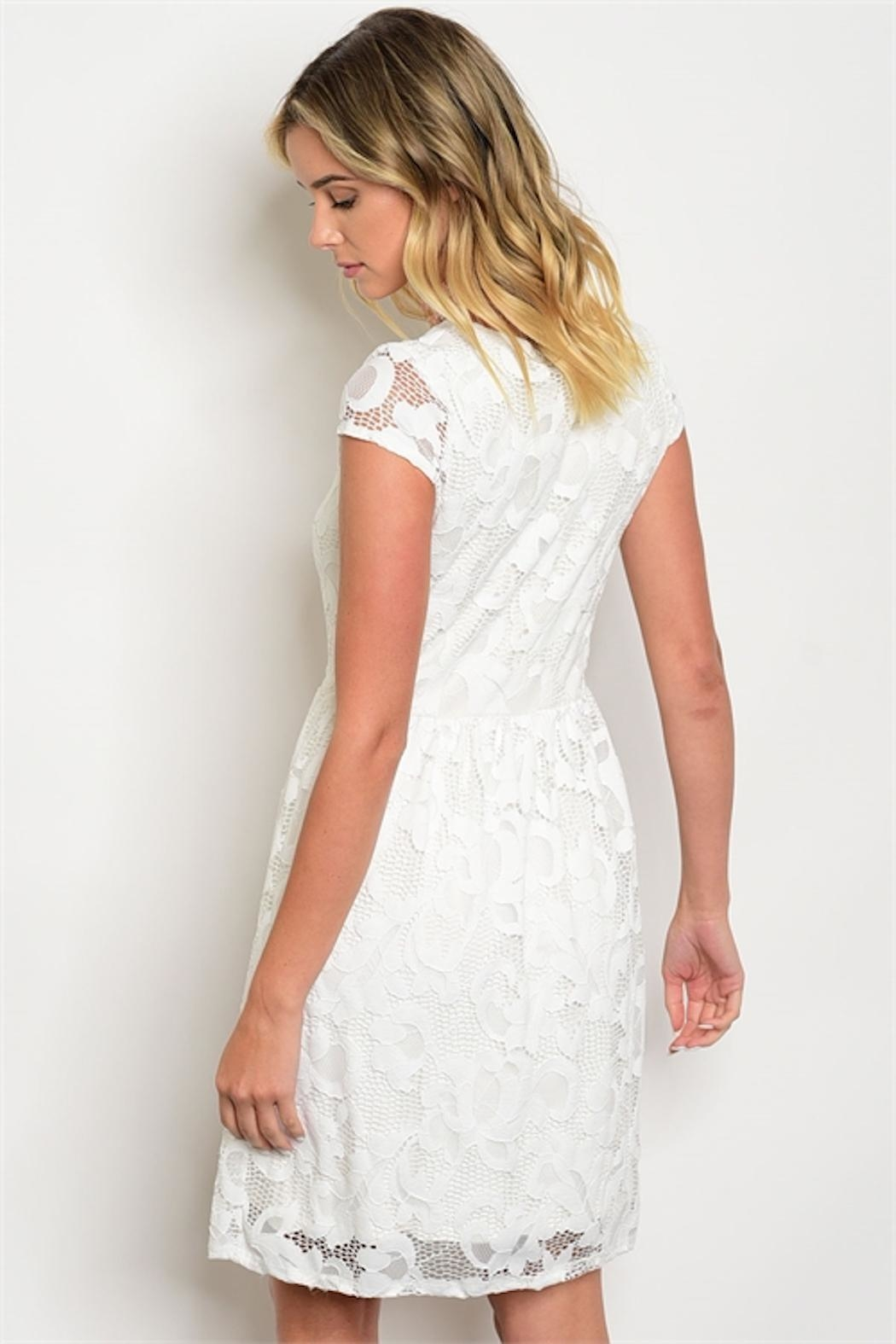 Gilli White Lace Dress - Front Full Image