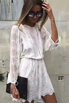 Racine White Lace Dress - Product List Image