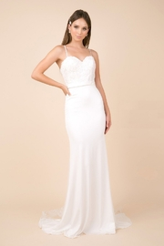 NOX A N A B E L White Lace Fit & Flare Bridal Gown - Product Mini Image