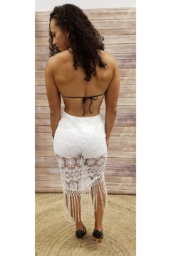 L'atiste White Lace Frills Skirt - Alternate List Image