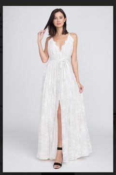 Minuet White Lace Gown - Product List Image