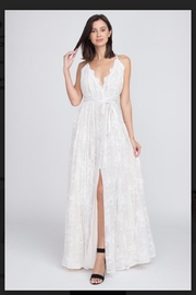 Minuet White Lace Gown - Product Mini Image
