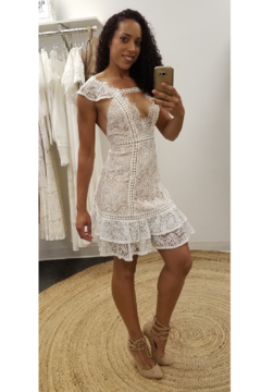 L'atiste White Lace Mini Dress - Product List Image