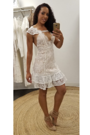 L'atiste White Lace Mini Dress - Product Mini Image