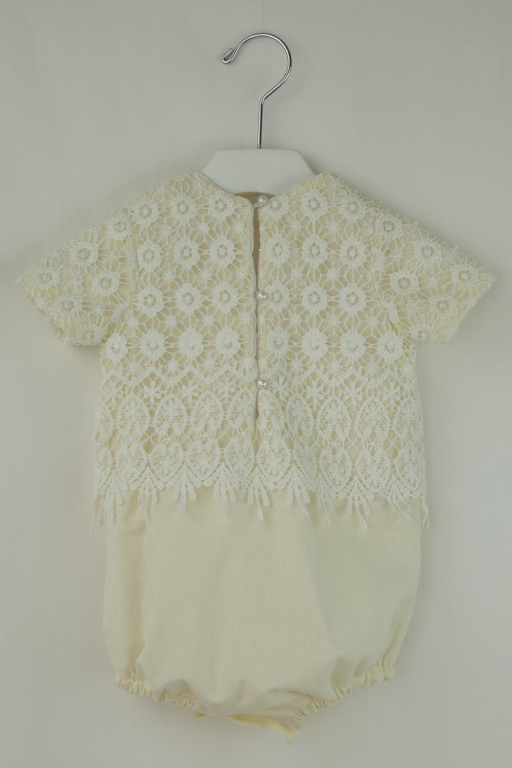 Cuore Baby White Lace Onesie - Front Full Image