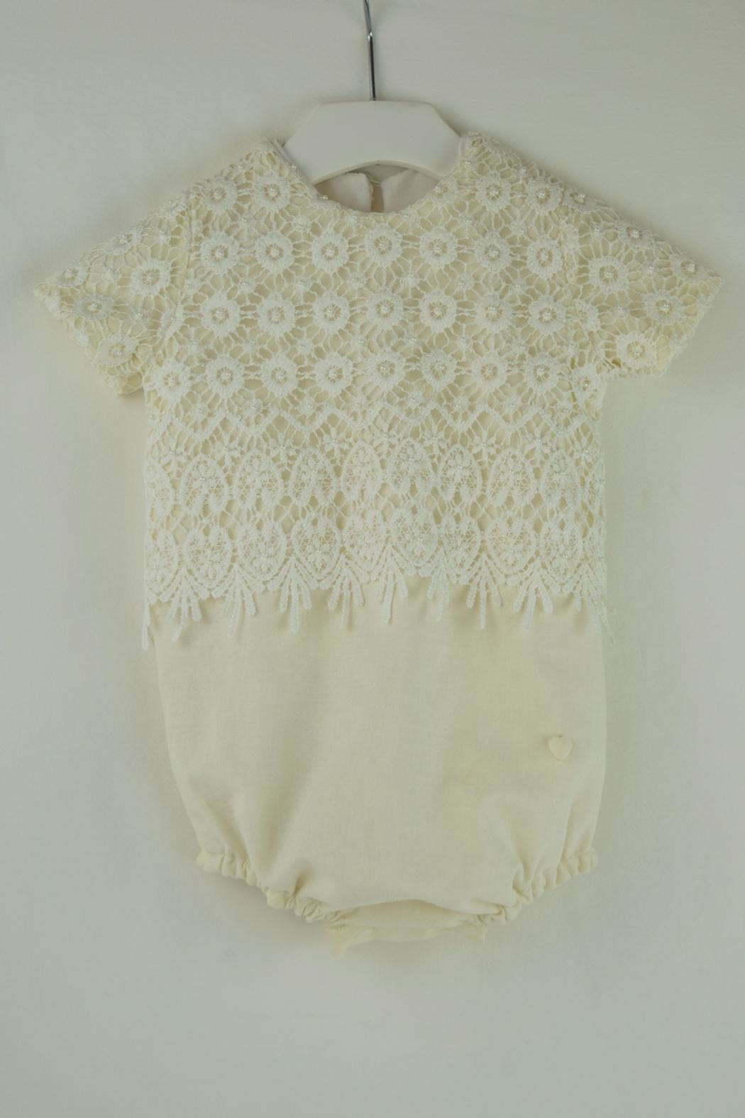 Cuore Baby White Lace Onesie - Main Image