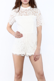 Shoptiques Product: White Lace Romper