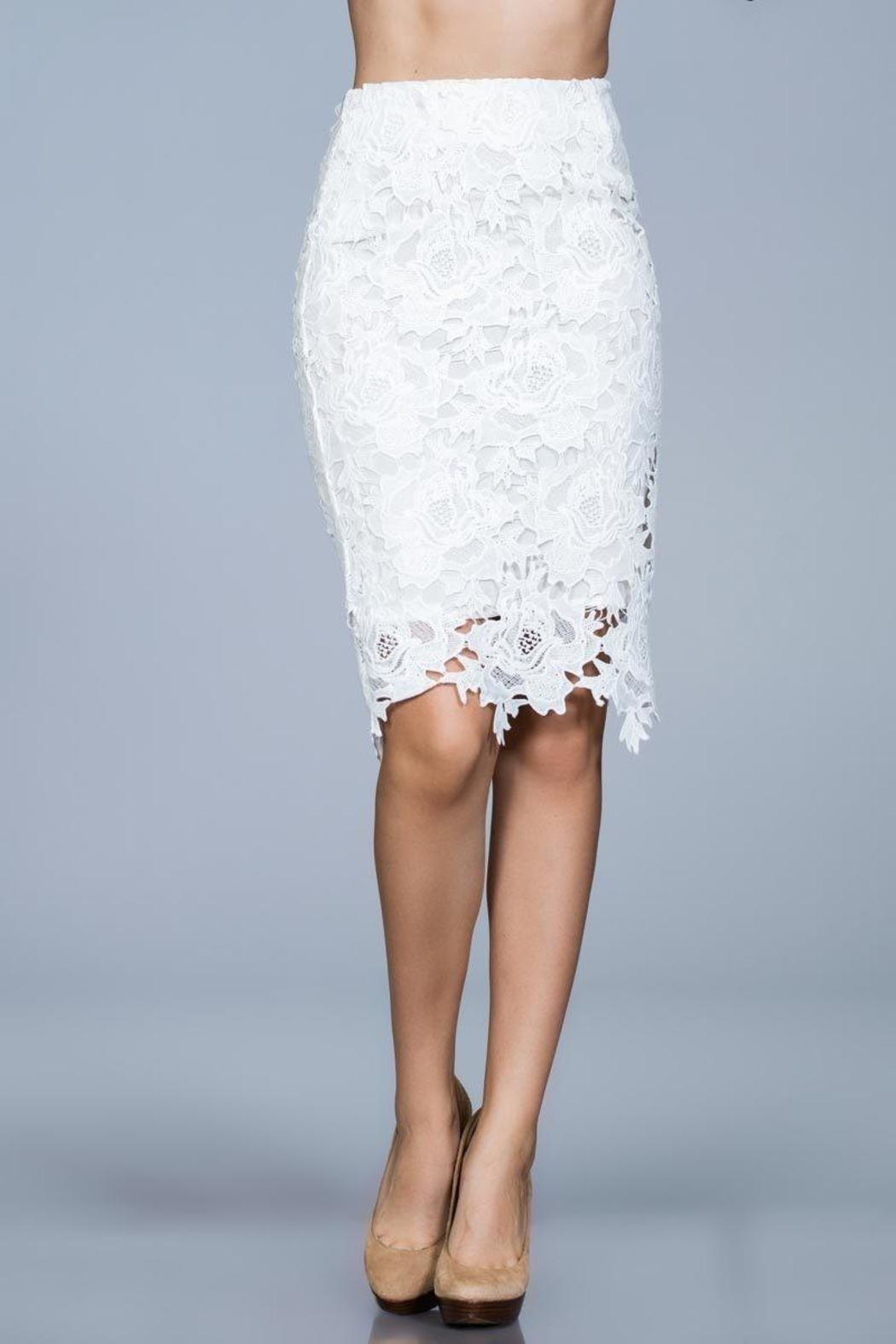 Ark & Co. White Lace Skirt - Main Image