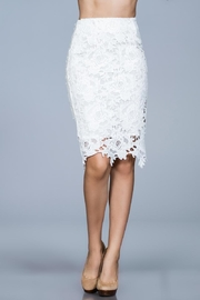 Ark & Co. White Lace Skirt - Front cropped