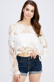 En Creme White Lace Top - Product Mini Image