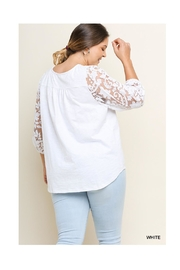 Umgee White Lace Top - Back cropped