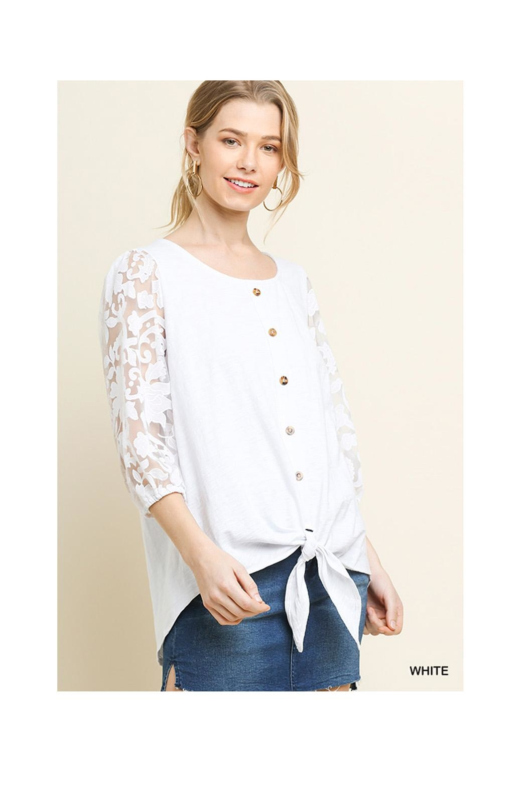 Umgee White Lace Top - Main Image
