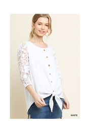 Umgee White Lace Top - Product Mini Image