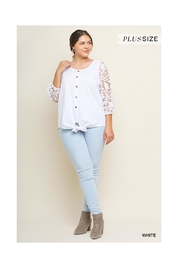 Umgee White Lace Top - Side cropped