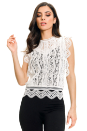 Adore White Lace Top - Product Mini Image