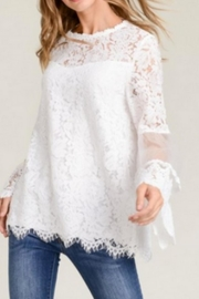 t.l.b.d. White Lace Top - Product Mini Image