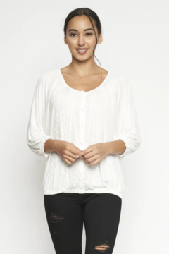 Miss Kelly White Lace Top - Alternate List Image