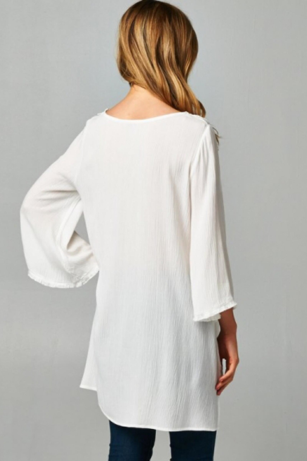 People Outfitter White Lace Tunic - Front Full Image