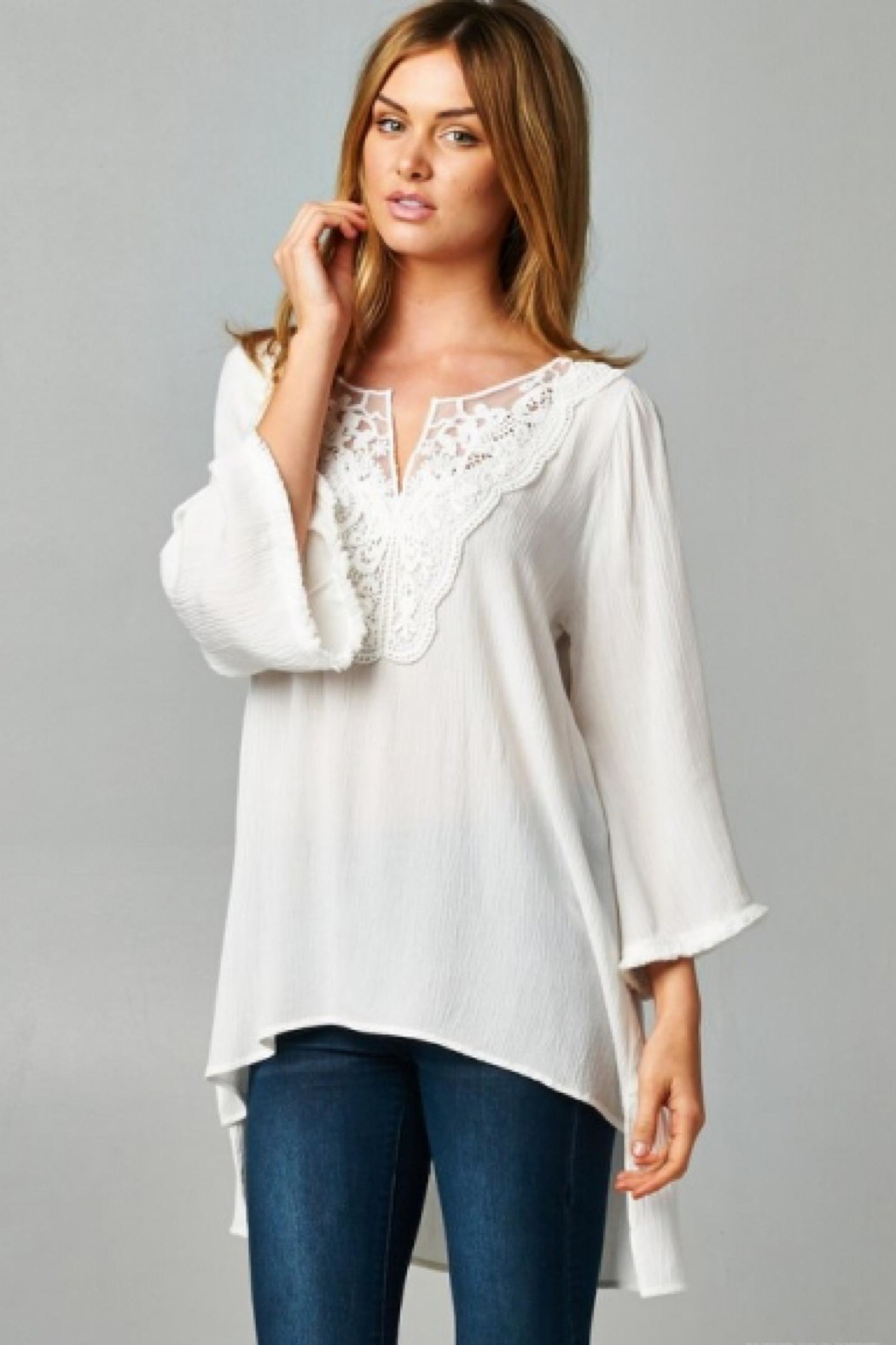 People Outfitter White Lace Tunic - Main Image