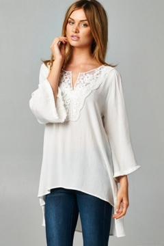 Shoptiques Product: White Lace Tunic