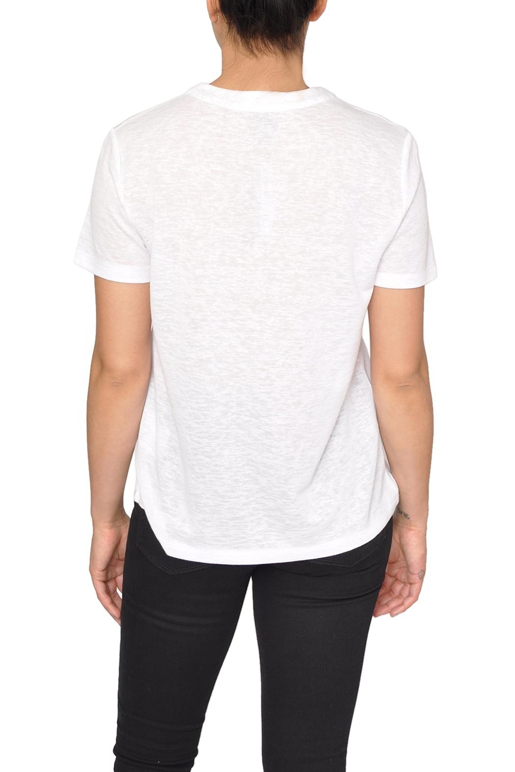 CAARA White Lace-Up Tee - Front Full Image
