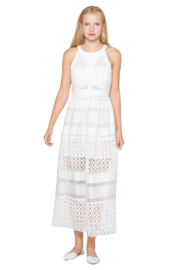 WHY DRESS White Laser Cut Dress - Front cropped