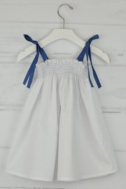 Granlei 1980 White & Lavender Dress - Front cropped