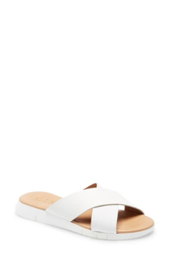 Matisse White Leather Slide - Product List Image