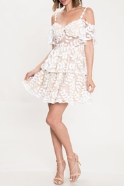 Latiste White Leaves Dress - Product Mini Image