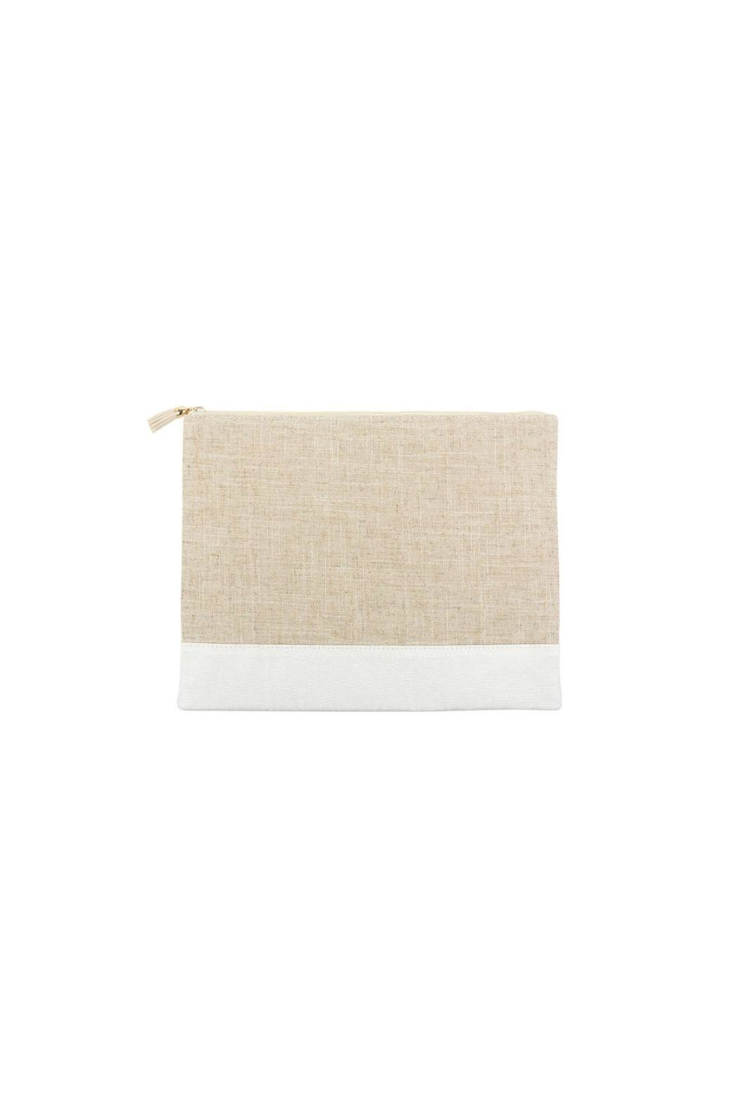 Mainstreet Collections White Lenin Pouch - Main Image