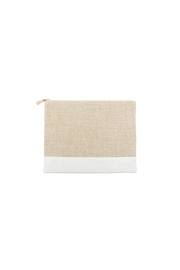 Mainstreet Collections White Lenin Pouch - Front cropped