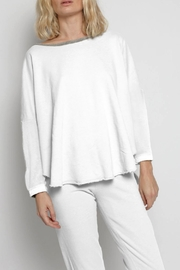 Christina Lehr White Lightweight Sweatshirt - Front cropped