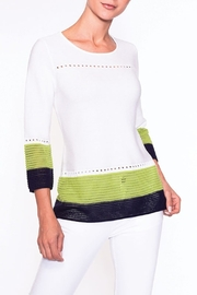 Alison Sheri white/lime green/navy knit - Product Mini Image
